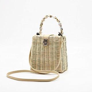 GSERA Damenhandtasche Wicker Woven Beach Bag Handgefertigte Umhängetaschen Bohemian Straw Bag Umhängetaschen Umhängetasche...