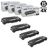LD Compatible Toner Cartridge Replacement for Samsung MLT-D103L High Yield (Black, 4-Pack)
