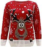 enfants filles garçons tricoté Rennes de Noël Rudolf Noël Nouveauté Pull 2-14 - Rouge, 11-12 Ans