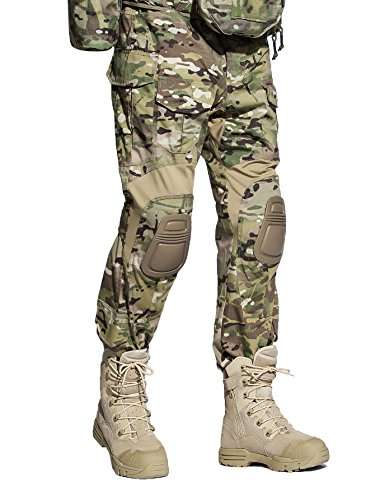 EMERSONGEAR Tactical Camouflage Pants with Knee Pads Military Combat Trousers Army for Airsoft Paintball MC XL