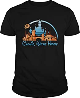 New Collection T shirt for Woman, Man anniversary Disney Star Wars Chewie were home shirt