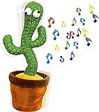 siyushop Dancing Cactus Juguete Bailando Cactus DIRIGIÓ Cactus Juguete Repetir Talking Cactus Cantando Peluche de Peluche Que Brilla los Juguetes de la educación de la Primera Infancia, d