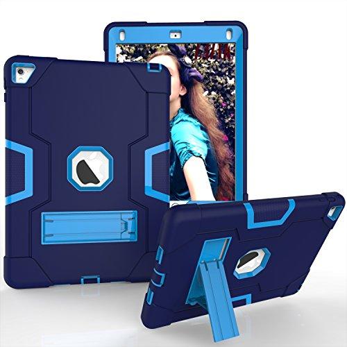 GoYi Funda iPad Pro 9.7 Inch 2016 Release (Modelo-A1673/A1674/A1675), Carcasa Caso Estuche360° Protección/Silicona + PC 3-In-1/Tough Armor/Soporte para iPad Pro 9.7