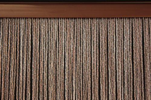 Cortina de PVC Modelo Bari - Medidas estándar (100X220 / 120X230 / 130X240 / 150X250) - Cortina de la Puerta - Cortina contra Las Moscas (100X220, Marrón (6))