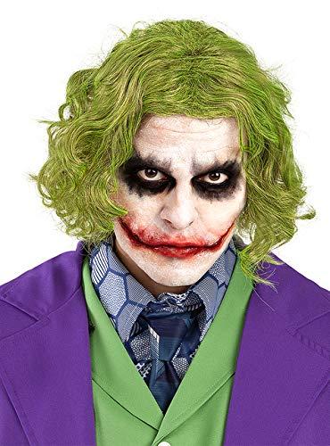 Funidelia | Peluca del Joker - El Caballero Oscuro Oficial para Hombre ▶ Superhéroes, DC Comics, Villanos, Accesorio para Disfraz