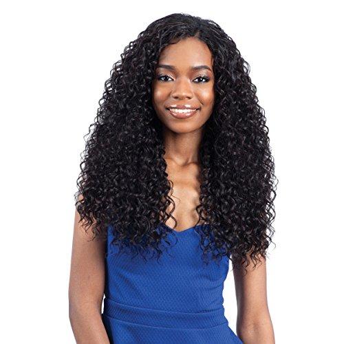 Que MALAYSIAN LAGUNA CURL 7PCS Human Hair Blended Weave (1B Off Black)