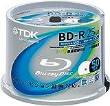 TDK LoR 録画用ブルーレイディスク BD-R 25GB 1-4倍速 ホワイトワイドプリンタブル 50枚スピンドル BRV25PWB50PK