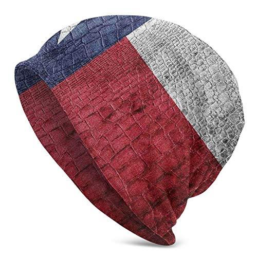 AEMAPE Bandera del Estado Pintada en Textura de Piel de Serpiente de cocodrilo de Lujo con Aspecto de Emblema patriótico Gorro de Punto Gorro de Calavera