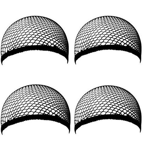 Black Sugar unisexe mixte Lot de 4 pièces Filet Cheveux Perruque pour Femmes Et Hommes, Noir ou beige (Noir)