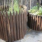 LIXIONG Gartenzaun Lattenzaun Draussen Pflanze Streikposten Fechten Hölzern Verriegelung Panels Rasen Rand Hof Blume Pflanzen ,6 Größe (Color : Brown, Size : 118x20cm)