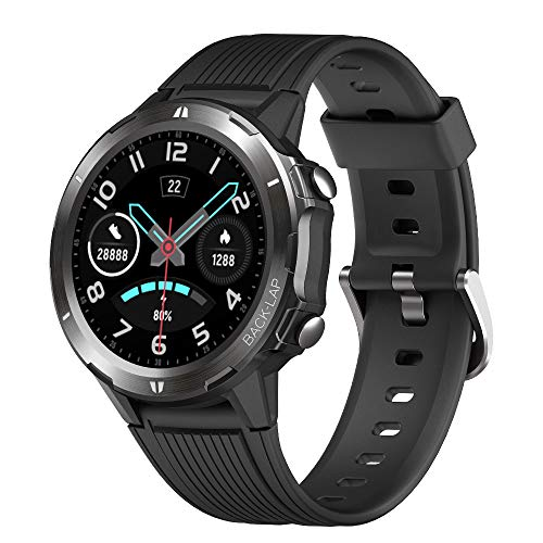 Lintelek Smartwatch, Fitness Tracker con cardiofrequenzimetro, Tracker di attività, contapassi, Monitor del Sonno, contacalorie, Schermo a Colori HD da 1,3', Impermeabile 5ATM