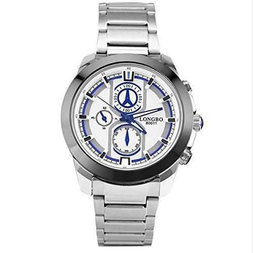 Uhr Longbo blau weiß 80011