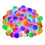 LE Guirnalda de Luces 10m 100 LED, Cadena de Luces 8 Modos de Luz, Multicolor Resistente al agua, Decoración de Bodas,...