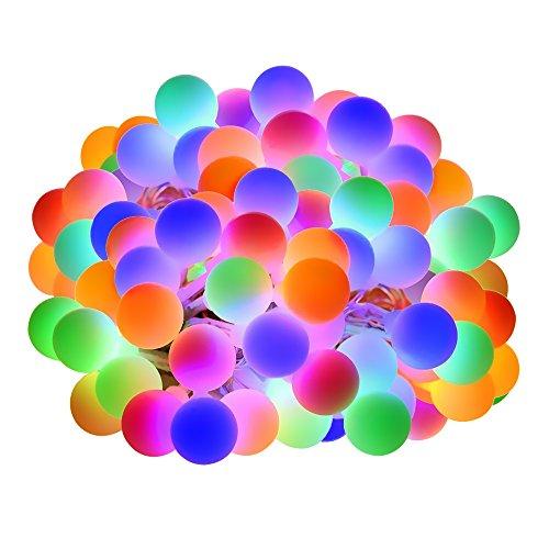 Lepro 100er LED Kugel Lichterkette Bunt 13M, Partybeleuchtung Außen mit Stecker, 8 Modi und Merk Funktion, ideale Partylichterkette für Innen, Hochzeit, Party Deko usw. Mehrfarbig