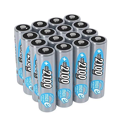 ANSMANN wiederaufladbar LSD Akku Batterie geringe Selbstentladung Mignon AA 2100mAh maxE NiMH vorgeladen sofort einsatzbereit hohe Kapazität ready to use 16er Pack