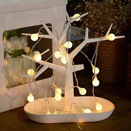 40 LED 16ft Cadena Luces USB, IP65 Impermeable, Fulighture Decorativas Guirnaldas Luminosas para Exterior,Interior, Jardines, Casas, Boda, Fiesta de Navidad Decoración(luz blanca cálida)