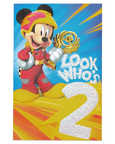 American Greetings 2nd Birthday Card for Boy (Mickey Mouse)