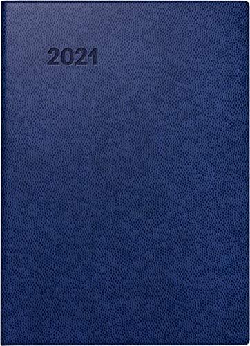 BRUNNEN 1073111301 Taschenkalender Modell 731 11, 2 Seiten = 1 Woche, 10 x 14 cm, Kunststoff-Einband blau, Kalendarium 2021