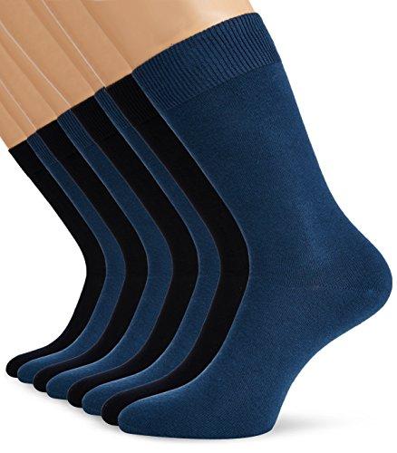 s.Oliver Basic sokken, uniseks, met zachte band, voor dames en heren, pak van 8