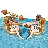 ZFAYFMA Cojín inflable para adultos, 2 unidades, creativo para adultos, para deportes acuáticos, portátil, para piscina, adecuado para Back Gold