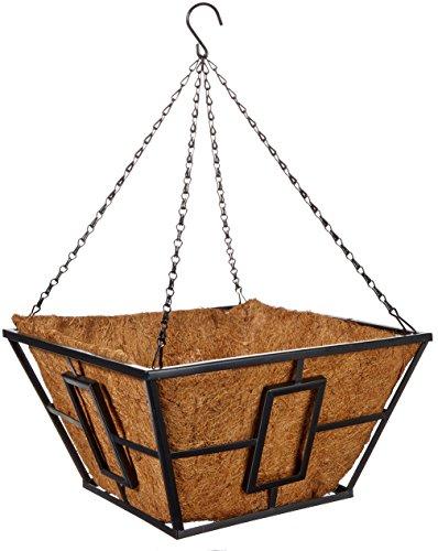 Panacea Products Corp-Import 87850 35,6 cm, Noir, carré, Style Contemporain Panier à Suspendre