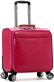 GLJJQMY Ladies in The Chassis Trolley Case Small Travel Luggage Color Luggage Lock Box, Plum Red 16 Inch Trolley case