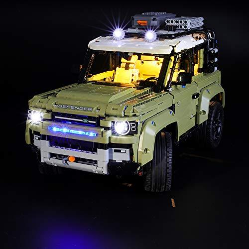 LIGHTAILING Set di Luci per (Technic Land Rover Defender) Modello da Costruire - Kit Luce LED Compatibile con Lego 42110 (Non Incluso nel Modello)
