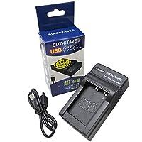 SIXOCTAVE FUJIFILM NP-85 バッテリー対応互換USB充電器チャージャー F BC-85A FinePix S1/FinePix SL1000/FinePix SL240/FinePix SL245/FinePix SL260/FinePix SL280/FinePix SL305/Finepix SL300 等カメラバッテリーチャージャー メーカー純正互換共に充電可能