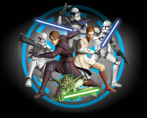 Kinder-Fototapete - Star Wars - Clone Wars