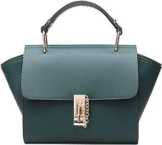 Fashion Simple and Versatile Compact Bills Shoulder Slung PU Handbag (Color : Green)
