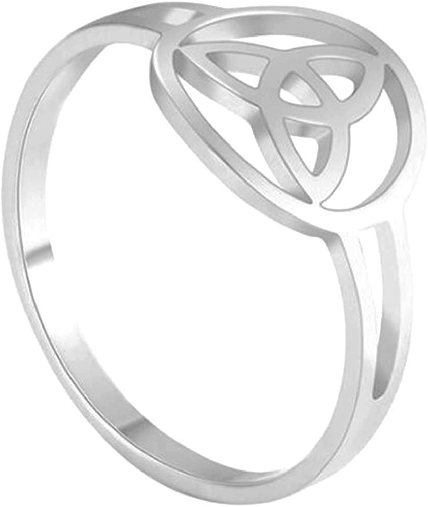 Jude Jewelers Stainless Steel Round Shaped Celtic Knot Promise Statement Ring