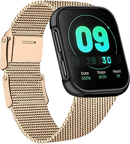 AK Cinturino Compatibile con Apple Watch Cinturino 38mm 40mm 42mm 44mm, Maglia Milanese Cinturino in Acciaio Inossidabile in Metallo per iWatch Serie 5/4/3/2/1