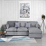 Casa AndreaMilano Grey Sectional, Light Gray