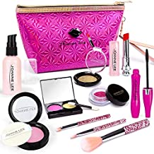 OCATO Pretend Makeup for Girls Kids Makeup Kit for Girl Play Makeup for Toddlers Makeup Play Set with Shiny Cosmetics Bag Birthday Xmas Gift Fake Makeup Toys for Girls Age 2, 3, 5, 6 (Not Real Makeup)