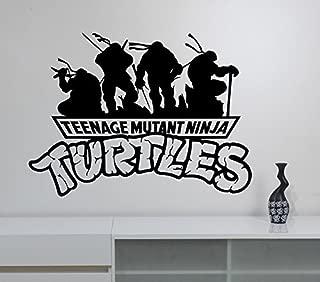 Teenage Mutant Ninja Turtles Logo Wall Decal Vinyl Sticker Video Game Decorations for Home Kids Boys Room Bedroom Playroom Cartoon Decor nts6
