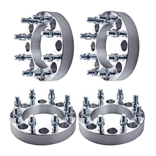 "4PC 2/"" 8 Lug Wheel Spacers 8x6.5 To 8x6.5 14x1.5 Studs For Dodge Ram 2500 3500"