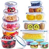 SYOSIN Frischhaltedosen (13-teilig), Frischhaltedosen aus Kunststoff mit Deckel-Aufbewahrung von, Kunststoffbehältern mit Deckel, auslaufsichere Organisation für Küche und Speisekammer-BPA-frei