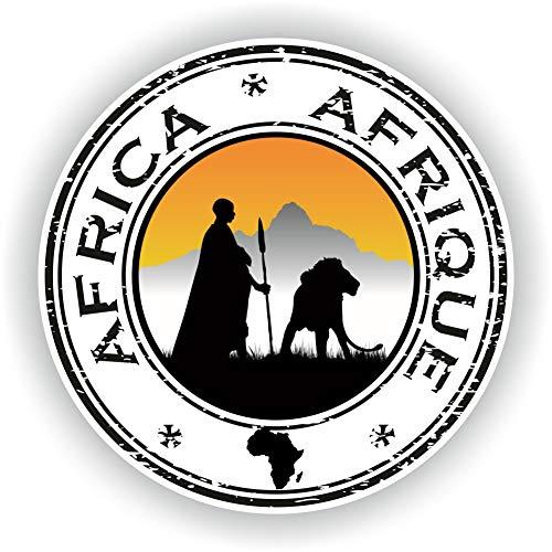 Tiukiu Afrika Seal Aufkleber rund Flagge für Laptop Buch Kühlschrank Gitarre Motorrad Helm Werkzeugkasten Tür PC Boot