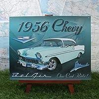 インテリア雑貨 ブリキ看板 シボレー・ベル・エアー Chevy 1956年