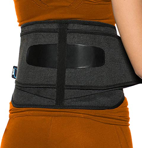 MODVEL Back Brace Support for Men and Women | Breathable Waist Lumbar Lower Back Belt with Lumbar Pad | Immediate Relief from Back Pain, Herniated Disc, Sciatica, Scoliosis and more!