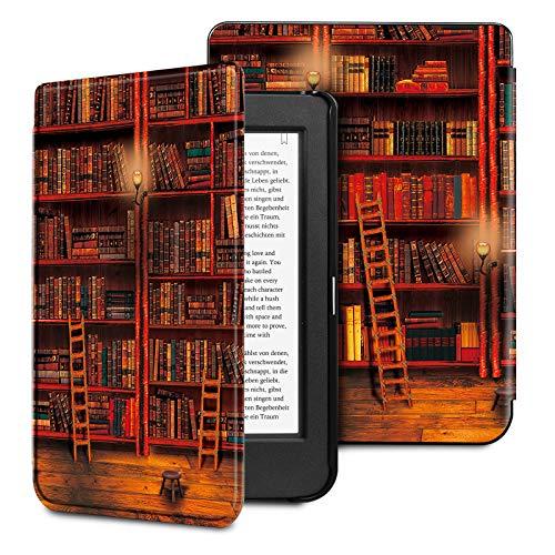 FINTIE Custodia per Kobo Nia - Sottile Leggero Cover Protettivo in Similpelle con Auto Sveglia/Sonno Funzione per Kobo Nia E-Reader, Biblioteca