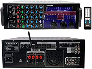 SINGTRONIC KA-2000DSP Professional DJ/KJ 2000W Digital Mixing Amplifier with HDMI, Bluetooth Function Send and Receive from Any Smart Devices, USB Recording