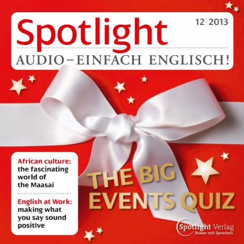 Spotlight Audio - The big events Quiz. 12/2013 cover art