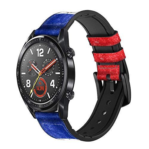 Innovedesire Haiti Flag Correa de Reloj Inteligente de Cuero para Wristwatch Smartwatch Smart Watch Tamaño (18mm)