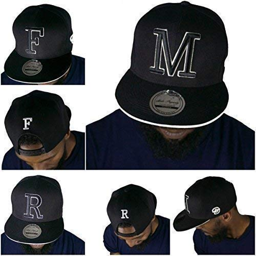 State Property & King Ice Initial Lettres Casquette, Hommes Femmes Capitales Premium Baseball Bling Chapeaux - Q, One Size