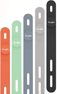 Ringke Cable Tie Silicone Colorful Reusable Holder Strap Organizer Management for Fastening Cable Cords and Wires [ Pack O...