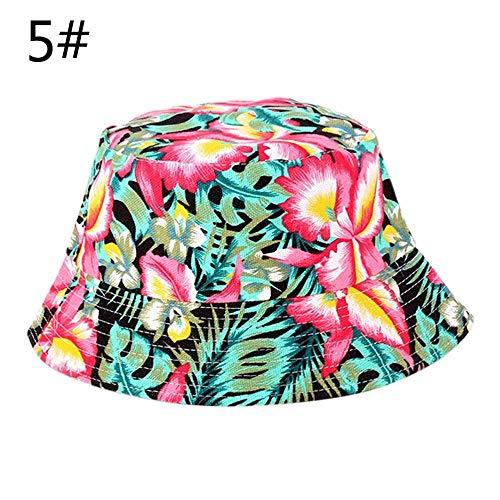 ZXL Hoed voor dames, zomer, heren, emmer, hoed, vakantie, strand, outdoor, vlakke muts, mannelijk, bloemenzonnehoed, vissen, hoeden, hip hop panama-pet 5