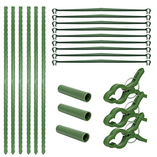 Qswokerr 4 Pack Garden Plant Support Tomato Cage Plant Support Cages Tomato Cages Combined Type Bonsai Tomato Rose Plant Climbing Vine Supporter Garden Stakes Climbing Plant Support (B, 18')
