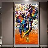 Y-fodoro Rompecabezas de Elefantes Abstractos, Animal Puzzle de Madera para Adultos de 1000 Piezas, Regalo para Sala de Estar para niños Adultos