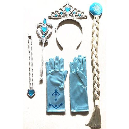 SP Funworld Girls Snow Queen Plastic Accessories Set Elsa 6pieces Set